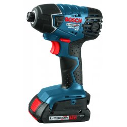 Bosch - 25618-02 - 1/4 Cordless Impact Driver Kit, 18.0 Voltage, 1500 In.-lb. Max. Torque, Battery Included