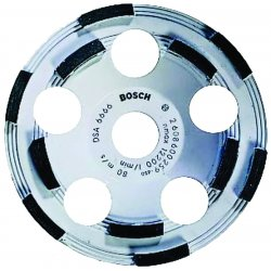Bosch - DC510 - 5 Double Row Segment Cup Grinding Wheel, 7/8 Arbor, 12, 200 Max. RPM, Segments: 6 Outer Row, 5 Inne