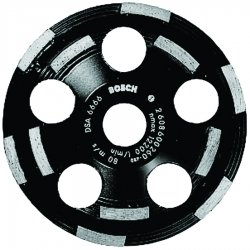 Bosch - DC520 - 5 Double Row Segment Cup Grinding Wheel, 7/8 Arbor, 12, 200 Max. RPM, Segments: 6 Outer Row, 5 Inne