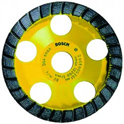 "Bosch - DC530 - 5"" Segment Cup Grinding Wheel, Turbo, 7/8"" Arbor Size, Number of Segments: 30"
