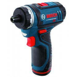 "Bosch - PS21-2A - 1/4"" Hex Cordless Pocket Driver Kit, 12.0 Voltage, Battery Included"
