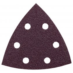 Bosch - SDTR000 - 3-1/2 In. Assorted Grits 6 pc. Red Detail Sander Abrasive Triangles for Wood