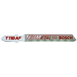 Bosch - T118AF100 - 100 pc. 3-5/8 In. 17-24 TPI Flexible for Metal T-Shank Jig Saw Blades