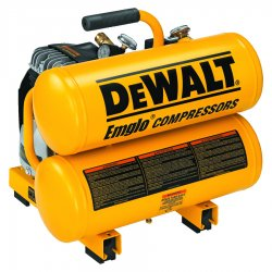 Dewalt - D55151 - 1.1 HP, 115VAC, 4 gal. Portable Electric Oil-Lubricated Air Compressor, 125 psi