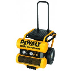Dewalt - D55154 - 1.1 HP Continuous 4 Gallon Electric Wheeled Dolly-Style Air Compressor with Panel