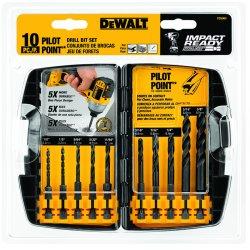 """Dewalt - DD5060 - Dewalt Impact Ready Drill Bit Set - Pilot Bit: - 0.25"""" Shank Diameter - 1"""