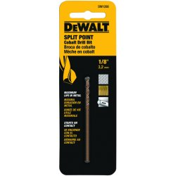 Dewalt - DW1208 - DeWALT DW1208 1/8'' Cobalt Drill Bit Split Point