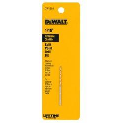 Dewalt - DW1304 - Drill Bits, Split Point, Titanium, 1/16 in.