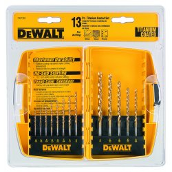 Dewalt - DW1363 - DeWALT DW1363 13 Pc. Titanium Drill Bit Split Point Index Set