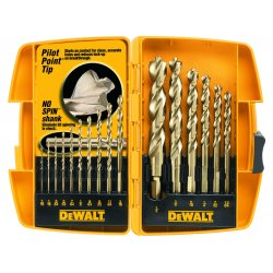 Dewalt - DW1956 - Dewalt DW1956 16 Piece Pilot Point Drill Bit Set - Pilot Bit: