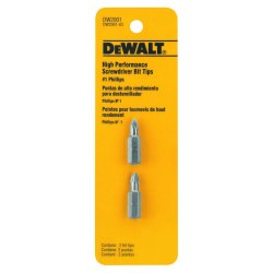 "Dewalt - DW2001 - #1 Phillips Screwdriver Bit, 1/4"" Shank Size"