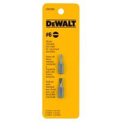 "Dewalt - DW2006 - #6 Slotted Screwdriver Bit, 1/4"" Shank Size"