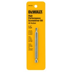 "Dewalt - DW2038 - #8 Slotted Power Bit, 1/4"" Shank Size"