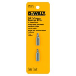 "Dewalt - DW2202 - Dewalt Screwdriver Bit Tip - 1"" Length - High Speed Steel - Shock Resistant, Heat Treated - 2 / Pack"