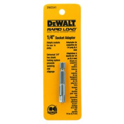 "Dewalt - DW2541 - 1/4"" socket adapter, 1-1/2"" length"
