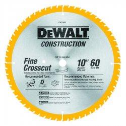 "Dewalt - DW3106 - Dewalt Series 20 60 Teeths Fine Finish Saw Blade - 10"" Diameter - Carbon Steel"