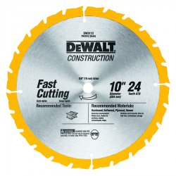 "Dewalt - DW3112 - 10"" Carbide Ripping Circular Saw Blade, Number of Teeth: 24"