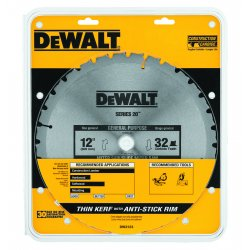 "Dewalt - DW3123 - 12"" Carbide Combination Circular Saw Blade, Number of Teeth: 32"