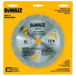 """Dewalt - DW3161 - 6-1/2"""" Carbide Ripping Circular Saw Blade, Number of Teeth: 18"""