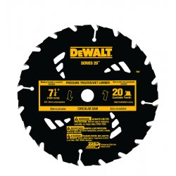 Dewalt - DW3174 - DeWALT DW3174 Series 20 Construction 7-1/4'' 20T Pressure Treated/Wet Lumber