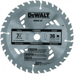 "Dewalt - DW3176 - Dewalt 7-1/4"" 36T Carbide Thin Kerf Circular Saw Blade - 7.25"" Diameter - Carbide-tipped, Non-stick"