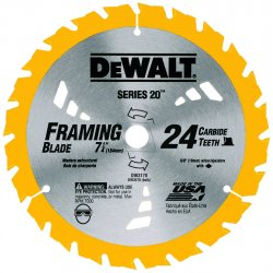 Dewalt - DW3182 - 8-1/4 Carbide Ripping Circular Saw Blade, Number of Teeth: 24
