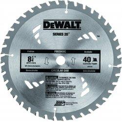 """Dewalt - DW3184 - DeWALT 8 1/4"""" X 5/8"""" X .050"""" 7000 RPM 40 TPI ATB Grind Series 20 Tungsten Carbide Tipped Thin Kerf Portable Construction Circular Saw Blade"""