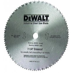 "Dewalt - DW3326 - DeWALT 7 1/4"" X 5/8"" X .075"" 7000 RPM 40 TPI ATB Grind Series 20 Steel Hollow Ground Plywood Circular Saw Blade"