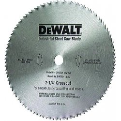"Dewalt - DW3332 - 7-1/4"" 60t Steel Master"