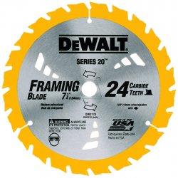 "Dewalt - DW3582 - 8-1/4"" 24t Atb Circularsaw Blade Combination"