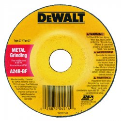 Dewalt - DW4419L - 4 Type 27 Aluminum Oxide Depressed Center Wheels, 5/8 Arbor, 1/4-Thick, 15, 200 Max. RPM