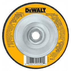 "Dewalt - DW4523 - 4-1/2"" x 1/4"" Depressed Center Wheel, Aluminum Oxide, 5/8""-11 Arbor Size, Type 27, High Performance"