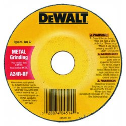 Dewalt - DW4619 - 5 Type 27 Aluminum Oxide Depressed Center Wheels, 7/8 Arbor, 1/4-Thick, 12, 200 Max. RPM