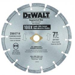 "Dewalt - DW4714 - 7"" Dry Diamond Saw Blade, Segmented Rim Type"