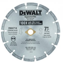 "Dewalt - DW4716 - 12"" Dry Diamond Saw Blade, Segmented Rim Type"