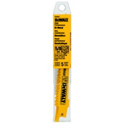 Dewalt - DW4847 - DeWALT DW4847 6'' 42498 TPI Taper Back Bi-metal Reciprocating Saw Blade (5 Pk)