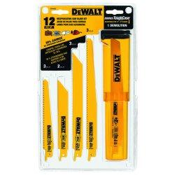"Dewalt - DW4892 - Dewalt Bi-Metal Reciprocating Saw Blade Set - 9"" Length - Carbon Steel - 12 / Case"