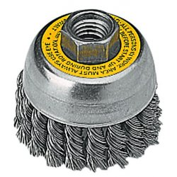 Dewalt - DW4910 - DeWALT DW4910 3'' x 5/8''-11 Knotted Cup Brush/Carbon Steel 0.02