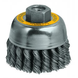 Dewalt - DW4915 - DeWALT DW4915 3'' x M10 x 1.25 Knotted Cup Brush/Carbon Steel 0.014