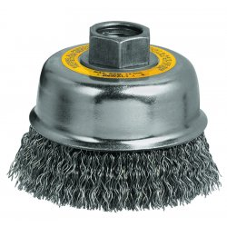 Dewalt - DW4920 - DeWALT DW4920 3'' x 5/8''-11 Crimped Cup Brush/Carbon Steel 0.02