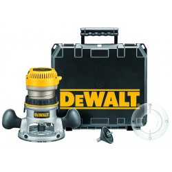 Dewalt - DW618K - 2-1/4 Hp Electronic Vs Fixed Base Router Kit