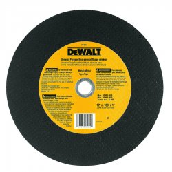 "Dewalt - DW8004 - 12"" Cut-Off Wheel, 7/64"" Thickness, 1"" Arbor Hole"