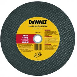 "Dewalt - DW8021 - 14""x5/32""x20mm Metal Portable Saw Cut-off Wheel"