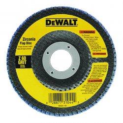 "Dewalt - DW8302 - 4"" X 5/8"" 60 Grit Zirconia Flap Disc Wheel"
