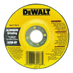 "Dewalt - DW8405 - 4-1/2"" x 1/4"" Depressed Center Wheel, Aluminum Oxide, 5/8""-11 Arbor Size, Type 27, High Performance"