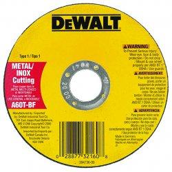 "Dewalt - DW8851 - Dewalt Type 1 Wheels: Extended Performance .045"" Metal Cutting - x 45 mil Thickness x 4.50"" Diameter - 1 / Pack"