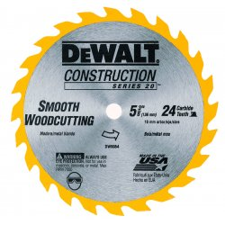 "Dewalt - DW9054 - 5-3/8"" Carbide Combination Circular Saw Blade, Number of Teeth: 24"