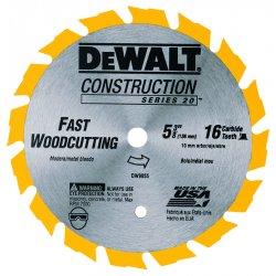 """Dewalt - DW9055 - 5-3/8"""" Carbide Ripping Circular Saw Blade, Number of Teeth: 16"""