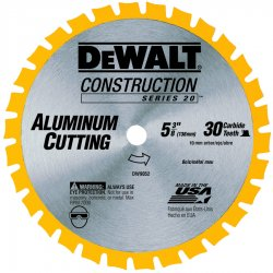 "Dewalt - DW9155 - Dewalt 6-1/2"" 18T Carbide Blade (Fast Cutting) - 6.50"" Diameter - Non-stick - Carbide"