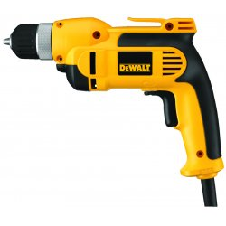 "Dewalt - DWD110K - Dewalt DWD110K 3/8"" (10mm) VSR Pistol Grip Drill Kit with Keyless Chuck - Driver Drill - 0.38"" Chuck"